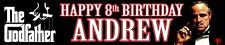 Personalised The Godfather Birthday Banner