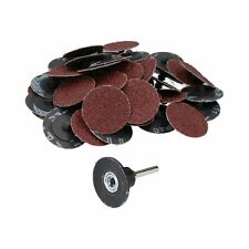 50mm Quick Change Rubber Backing Pad Adapter + 50pc 40 Grit Sanding Pads