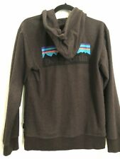 PATAGONIA Men's P-6 Logo Midweight Full-Zip Hoody XS Extra Small Black