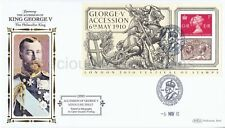 D593 BENHAM FIRST DAY COVER FDC 2010 GEORGE V ACCESSION MINIATURE SHEET