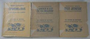 3 livres illustrés par DESLIGNIERES - Le LIVRE DE DEMAIN Fayard Bois originaux