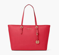 Michael Kors Jet Set Travel Top Zip Medium Tote Multifunction dark Sangria red