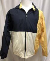 Mens Vintage Nautica Zip Front Colorblock Windbreaker Large EUC