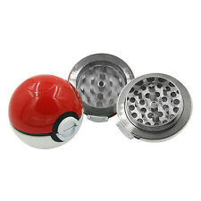 Hot 55mm 3 Layer Zinc Alloy Pokeball Pokemon Tobacco Mil Spice Herb Grinder