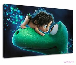 Funny Spot And Arlo From Good The Good Dinosaur Canvas Wall Art Picture Print