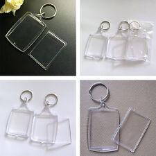 5Pcs Photo Transparent Key Ring Acrylic Keyring Keychain DIY Picture Frame Blank