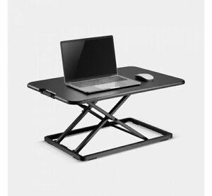 Ultra Slim Sit Stand Desk Converter Pc Laptop Work Office Home