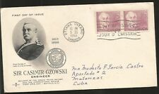L) 1963 Canada, Sir Casimir Gzowski, 5C, People, Engineer, Railroad, Fdc
