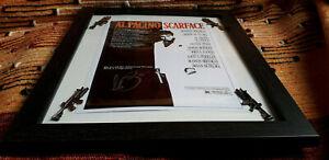 Al Pacino Signed - Scarface Film Poster 13x16  **Framed** - UK Seller