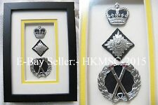 British Colonial Royal Hong Kong Police Framed Commissioner Decoration Badge