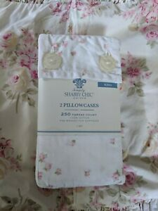 Rachel Ashwell Simply Shabby Chic Pillowcases King Pair Tiny Pink Roses New...