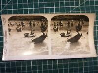 QQ024 Photo stéréoscopique les jolies baigneuses Circa 1930 femmes maillot bain