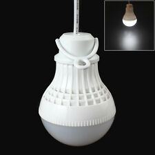 5W LED Energy Saving USB Bulb White Light Camping / Home Night Lamp Hook Switch