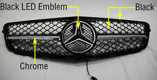 Mercedes C63 AMG Style Grill For C-Class Benz W204 C250 C300 C350 Chrome Black