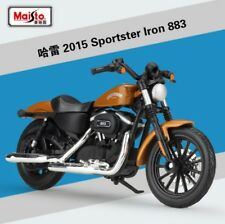 1:18 Maisto Harley Davidson 2014 Sportster Iron 883 Motorcycle Model Brown Black