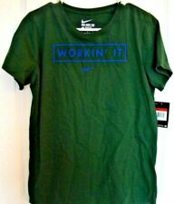 Nike Shirt Workin It Logo Womens Size Large The Nike Tee Green T-Shirt New NWT