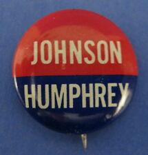 Political Pinback Button Badge Johnson Humphrey President 1964 Election Democrat