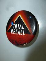 1990 Totall Recall Arnold Schwarzenegger Movie Promotional Pin Back Button