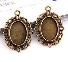 6pcs bronze plated frame pendants 33x24mm 1A887