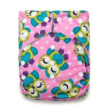 KAWAII BABY GOOD NIGHT HEAVY WETTER ONE SIZE CLOTH DIAPER WITH 2 LARGE INSERTS