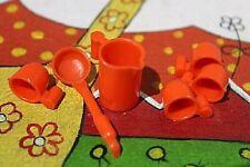 PLAYMOBIL ANTIGUOS UTILES DE COCINA AZULES COMIDA CARAVANA CAMPING CAMPO GRANJA
