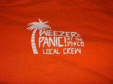 Weezer & Panic Shirt Xl At he Disco Local Crew Concert Show Tour