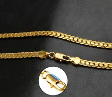 """18k Yellow Gold for Mens Womens Necklaces Long 24"""" Inch Size Link Chain D680"""