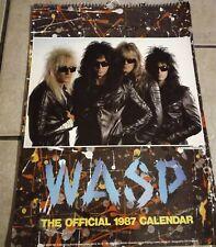 W.A.S.P. THE OFFICIAL CALENDAR 1987 NEU UNBESCHRIEBEN SELTEN