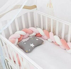 m/·kvfa Newborn Baby Bed Bumper Crib Around Cushion Cot Protector Pillows Room Decor Toddler Nursery Bedding Cot for Baby Boys and Girls G