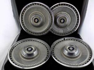 1971 71 1972 72 1973 73 BUICK LESABRE ELECTRA HUBCAP SET OF 4 O.E. 15 INCH NICE!