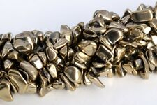 """4x3-10x5MM Champagne Gold Hematite Pebble Chips AAA Natural Loose Beads 16"""""""
