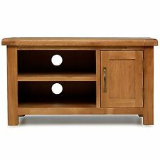 Melrose solid oak furniture small television cabinet stand unit with door