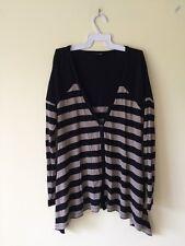 Bardot Striped Size 6 Long Sleeve Asymmetrical Top  Never Worn
