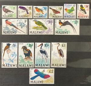 Malawi. Birds Stamps. Full Set. SG310/23. 1968. LM. #ETS220