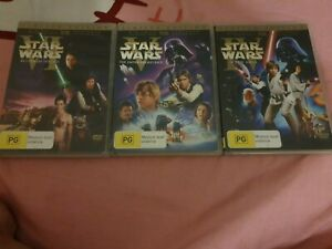 Star Wars Trilogy Theatrical Limited Edition IV, V, VI DVD, original version,pal