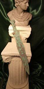*MUSEUM GRADE* 2,000 YR OLD ANCIENT ROMAN BRONZE SHORT SWORD/DAGGER