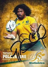 ✺Signed✺ 2016 WALLABIES Rugby Union Card Card TATAFU POLOTA-NAU