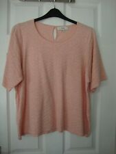 Next Womens Pink Knitted Short Sleeve Top size 20