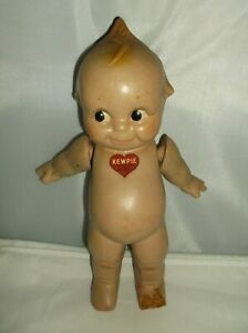 """Antique Rose Oneill 11 1/2"""" Composition Kewpie Doll with Jointed Arms+red heart"""