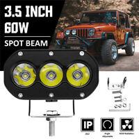 3.5'' Inch 60W LED Work Light Bar Spot Beam 6000K Light Driving Lamp Offroad SUV