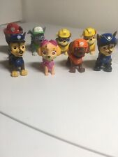 Lot of 8 Spin Master Paw Patrol Toy Figures Chase Rubble Sky Rocky Marshall Zuma