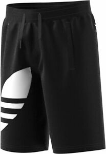 Adidas Originals Adicolor Big Trefoil Shorts, Big Boy's Size M, Black - NEW