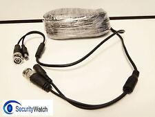Pre Made 20m 65ft CCTV Cable DIY Plug & Play for Analogue, HD BNC CCTV Cameras