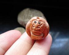 Vintage handwork wood monkey bead Netsuke necklace pendant carving  159