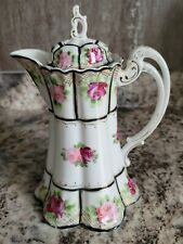 New listing Antique Nippon Hand Painted Marked Hot Chocolate Coffee or Tea Pot 1891-1921