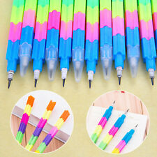 5Pcs Rainbow Pencils Blocks Pen Office School Stationery Writing Tools Kids Gift
