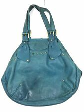 Marc By Marc Jacobs Large Leather Hobo Studded Bag Purse Teal