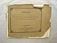 Eau-forte, Illustrations de Hamlet, XIXème, d'après Maurice Retzsch