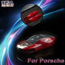 Red Key Shell Case Cover Protector for Porsche Cayenne Panamera Macan 911 918