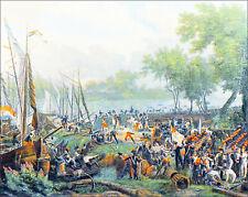 ARMÉE de SAMBRE & MEUSE: PASSAGE du RHIN (septembre 1795) - Planche 19e siècle